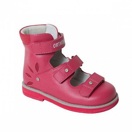 Сандали ортопедические Ортобум для девочек 81597-32 цвет брусничный